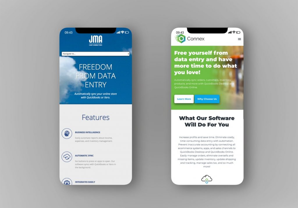 Old vs New Connex Mobile Responsive Design